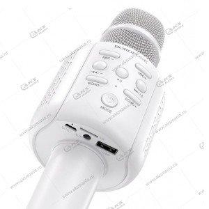 Беспроводной караоке микрофон Borofone BF1 Rhyme белый