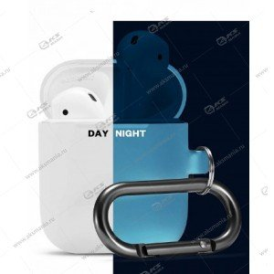 Силиконовый чехол для Airpods 2 с карабином Nightglow