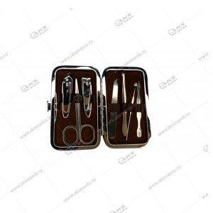 Маникюрный набор в коричневом чехле ZY-887 7шт.