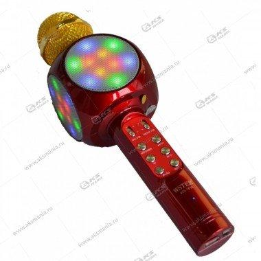 Беспроводной караоке микрофон WS-1816 красный