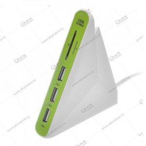 Картридер Perfeo USB-HUB 2.0 PF-HYD-8029H