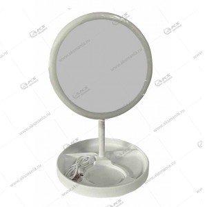 Зеркало для макияжа настольное с LED подсветкой 920