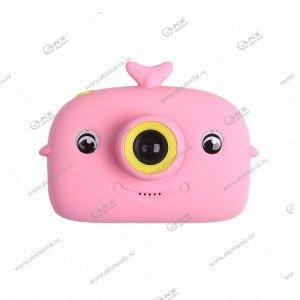 Детский фотоаппарат Дельфин 2 камеры X12A розовый