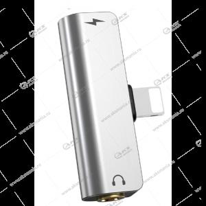 Переходник Hoco LS25 Digital 3.5mm audio converter for Apple серый