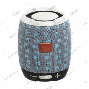 Колонка портативная Charge G13 BT TF FM серо-голубой узор