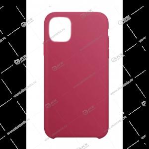 Silicone Case (Soft Touch) для iPhone 11 Pro розово-красный