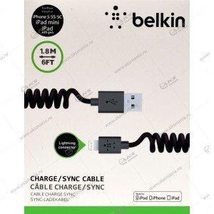 Кабель Belkin lightning витой черный