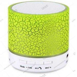 Колонка портативная BT Speaker A9 BT FM TF зеленый трещинки