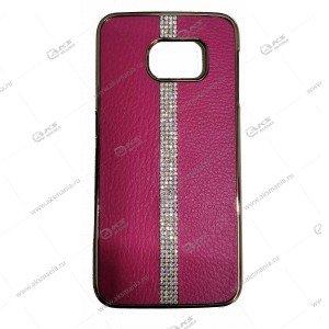 Пластик Samsung S6 HOJAR под кожу розовый