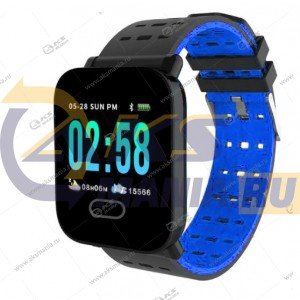Smart Bracelet A6 Шагомер Пульсометр синий