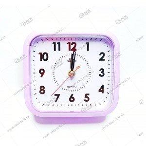 Часы 6161 будильник фиолетовый