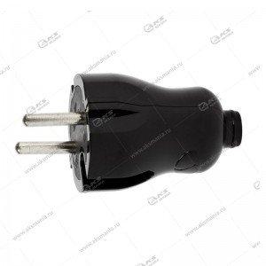 Вилка Smartbuy прямая без заземления, черная 10A 250В (SBE-10-P04-b)