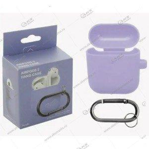 Силиконовый чехол для Airpods 2 Light purple