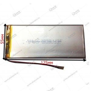 Аккумулятор универсальный 3555125 3000mAh литий-ионный