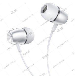 Наушники Borofone BM57 Platinum universal с микрофоном серебро