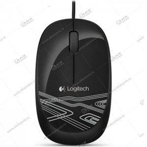 Мышь проводная Logitech M105 черный