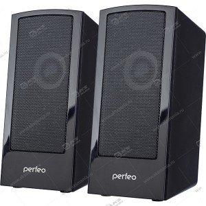 """Компьютерные колонки Perfeo """"CALIBR"""" 2.0, мощность 2х3 Вт, чёрн, USB"""
