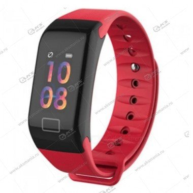 Smart Bracelet F1 Plus Шагомер Пульсометр красный