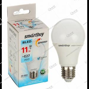 Лампа светодиодная Smartbuy A60-11W-220V-4000К-E27 (белый свет)