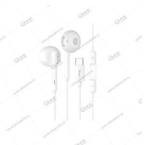 Наушники Hoco L10 Acoustic Type-C с микрофоном белый