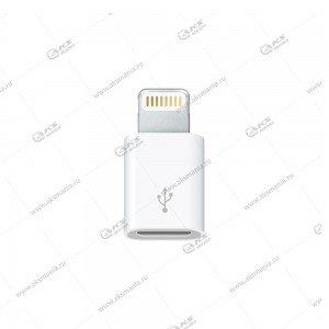 Переходник Micro USB-Lightning пластик