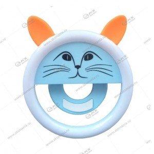 Вспышка-селфи для телефона с ушками оранжевый