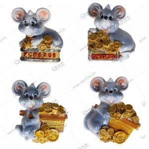 Магнит Мышь на деньгах 5см-4см цвета разные