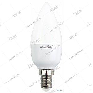 Лампа светодиодная Smartbuy C37-7W-220V-6000K-E14 (свеча, холодный дневной свет)