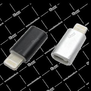 Переходник Micro USB-Lightning металл
