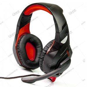 Гарнитура полноразмерная игровая Dialog HGK-31L Gan-Kata, регулятор, подсветка, чёрн/красная