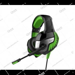 Наушники Smartbuy SBHG-9200 Rush Cruiser, кабель 2,2м. черн/зелен.