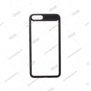 Силикон Auto Focus для IPhone 7G/8G Plus прозрачный с черным кантом