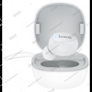 Bluetooth гарнитура Hoco E50 Wise mini c зарядным кейсом белый