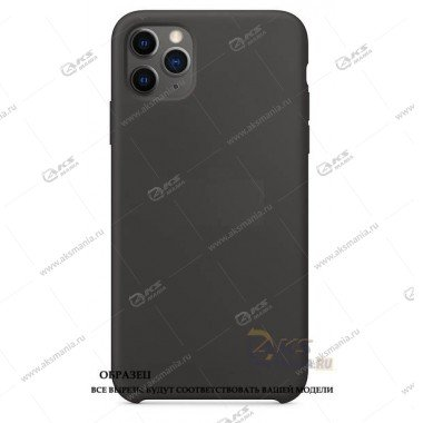 Silicone Case (Soft Touch) для iPhone 11 Pro Max темно-серый
