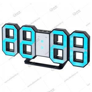 Часы Perfeo Luminous PF-663 черный корпус / синяя подсветка