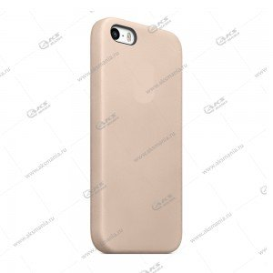 Silicone Case (Soft Touch) для iPhone 5/5S/5SE бежевый