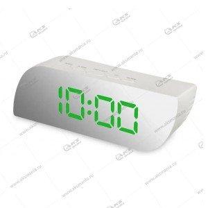 Часы настольные 018 бело/зеленый