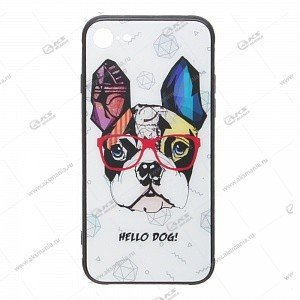 Силикон имитация стекла для IPhone 7G/8G Hello Dog