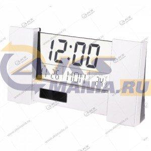 "Часы-будильник Perfeo ""City"" (PF-S2056) время, температура, дата белый"