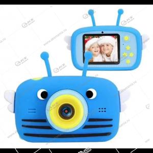 Детский фотоаппарат Zoo Kids Camera пчелка синий