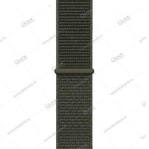 Ремешок нейлоновый для Apple Watch 38mm/ 40mm хаки