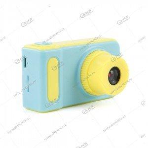 Детский фотоаппарат Kids Camera Summer Vacation голубой