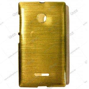 Пластик Samsung S4/i9500 карамель золото