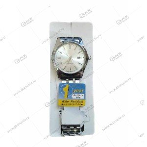 Наручные часы KASIO стрелочные серебро