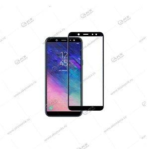 Защитное стекло Samsung A6 Plus Black