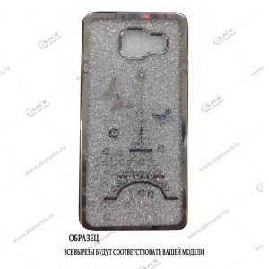Силикон Samsung J7 NEO кант вставка Paris серебро