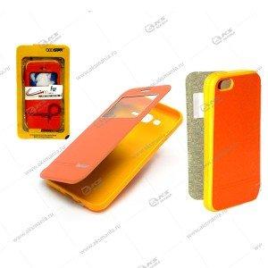 Книга BOOSTAR Asus ZenFone ZOOM/ ZX551ML оранжевый