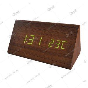 Часы Perfeo Pyramid PF-S710T коричневый/ зеленый