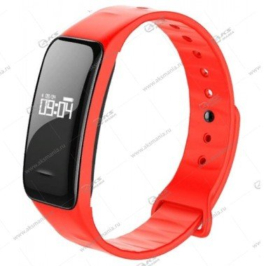 Smart Bracelet C1 Шагомер Пульсометр красный
