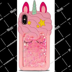 Силикон Аквариум iPhone 11 Единорог розовый